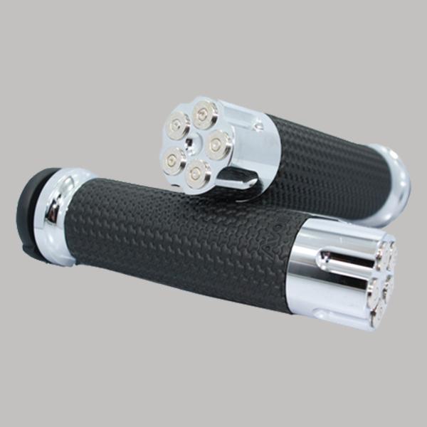 Memory Foam Handgrips Chrome Cartridge Chrome Bullet