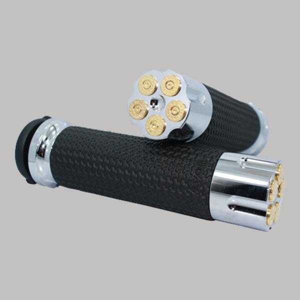 Memory Foam Handgrips Chrome Cartridge Chrome Cartridge 24k Gold Bullet