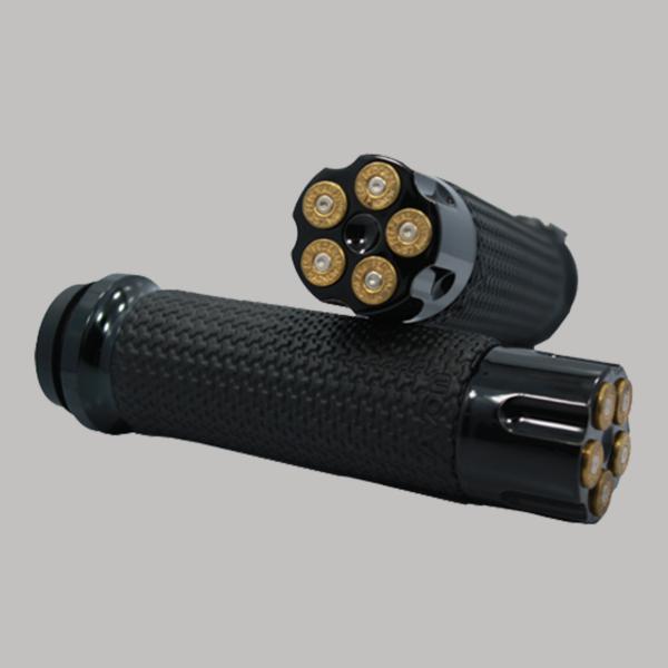 Memory Foam Handgrips Black Cartridge Brass Bullet