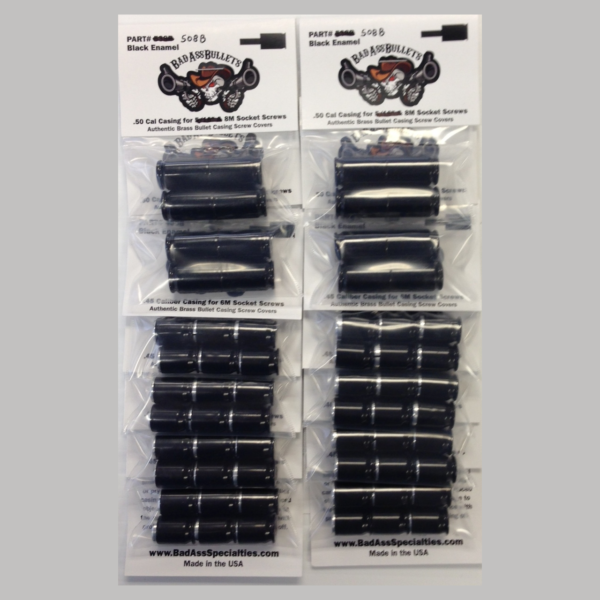 Indian Scout Bullet Screw Cover Kit Black Powder