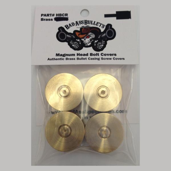 Harley-Davidson Magnum Bullet Head Bolt Cover Solid Brass