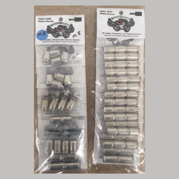 Milwaukee 8 Chrome Bullet Screw Cover Kit
